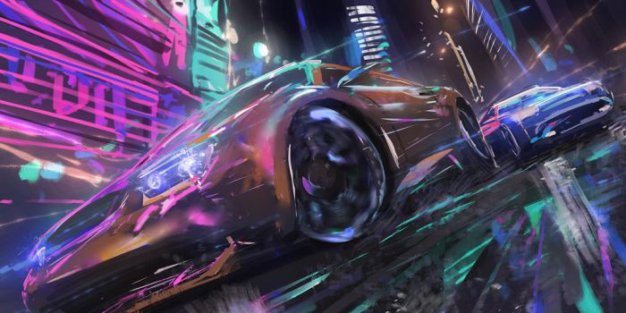 Daily spitpaint - street racing by novaillusion
