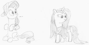Rarity Sketches by baratus93