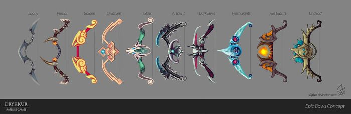 Epic Bows Concept by slipled