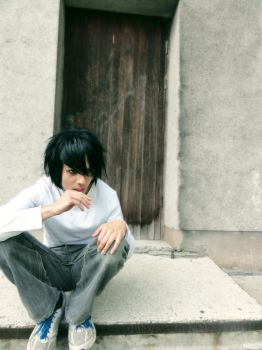 Riga Animefest L Lawliet cosplay by Infera1