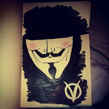 Fifth of november.  V For Vendetta by Yourmajestysart