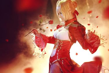fate/extra saber by 35ryo