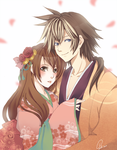 Tomoe and Katsuo SDL by Azu-Chan