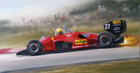 1985 Ferrari 156/85 by donpackwood