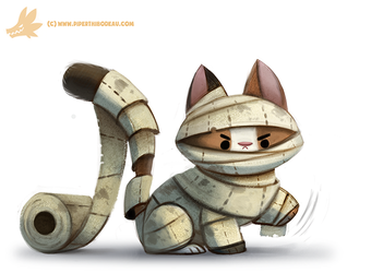 Daily Paint #1064. Mummy Cat by Cryptid-Creations