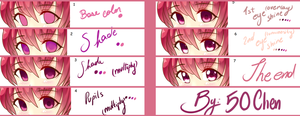 Eyes tutorial - Paint tool SAI by FiftyChen