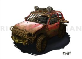 Post-Apocalyptic Nissan Micra by zonefox