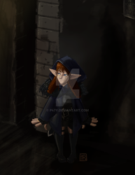 Gnessy DnD Rogue Gnome comisson by p47y