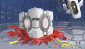 A GLaDOS Christmas by FrozenTempest