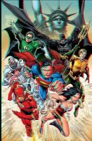 Justice League 3D Anaglyph 2 by xmancyclops