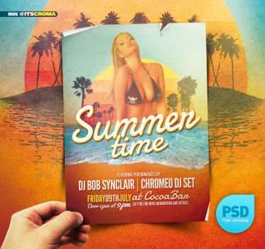 PSD Indie Vintage Flyer Summer by itscroma