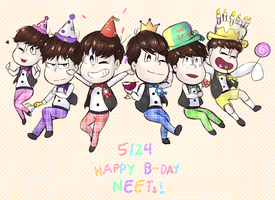 5.24 HAPPY BIRTHDAY NEETS!!! by mintae-chii