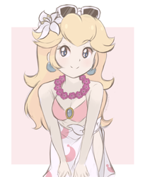 Princess Peach - Swimsuit (Colored Sketch Ver.) by chocomiru02