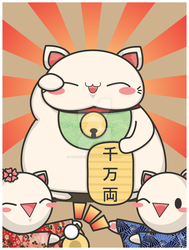 Maneki Neko by pronouncedyou