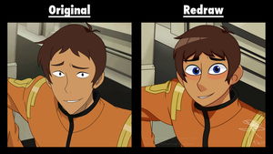 Original vs. Redraw (Lance) by Infinity-Drawings