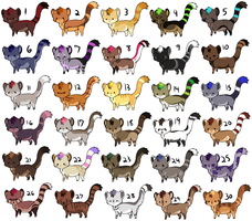 30 adoptables open by CitruShark