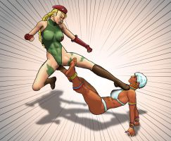 Cammy vs Elena by AlvMar0122