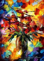 Fall bouquet by Leonid Afremov by Leonidafremov