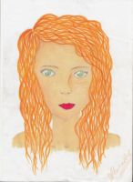 Red Haired Girl by blabladog
