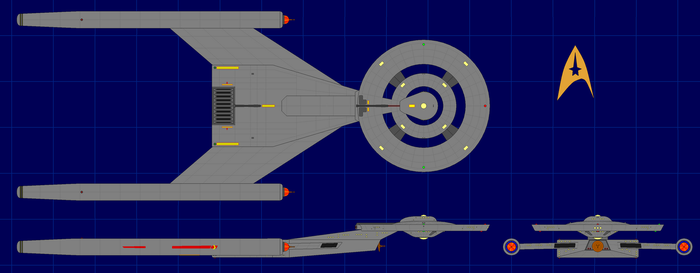Crossfield Class (Cannon Timeline) (Dark Hull) by apaskins1991