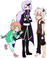 Kimon, Shiro, and Aeron by DivineMaster-Inferno
