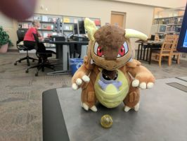 Kangaskhan at the Library