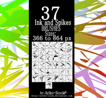 Ink and Spike Brushes by Ariko-Stock