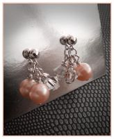 Pearl and Crystal Earrings by Sarahorsomeone