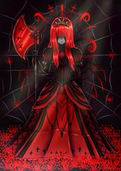 Ebony The Spider Queen ( Contest Entry ) by cylica