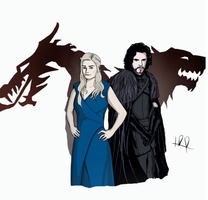 Daenerys and Jon by hey-its-LDR