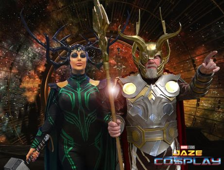 Hela and Odin plan their Dynasty by captainjaze