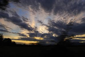 Sunset - from my car by fabri360
