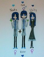 Nadia, Nicolas and Zoe Cray by GreyRoseKit