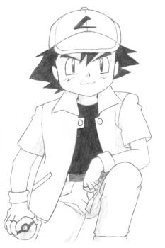 Ash Ketchum by trad-HP-rocks