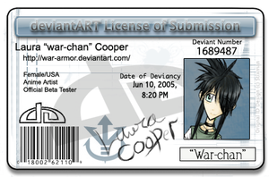 my DeviantART license by war-armor