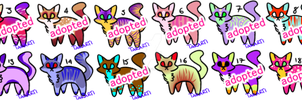 [OPEN] OTA Colourful Cats 1-20 by Takarti