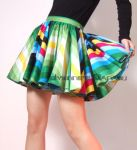 Rainbow Cotton Sexy Mini Skirt by yystudio