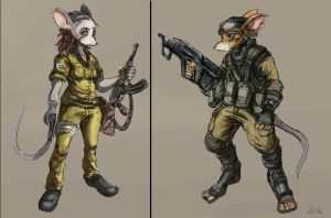 Mouse Soldier Concepts - 02 by TheLivingShadow