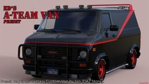 Freebie: ED's A-Team Van Preset for DAZStudio4.9 by Edheldil3D