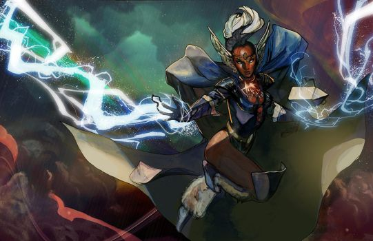 storm asgardian power up by Peter-v-Nguyen