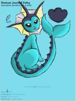 Vaporeon Journal Skin by AbyssinChaos