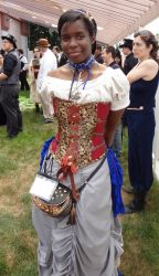 Out in the Market Steampunk Dress by SirLadyCostumer