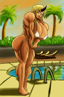[AT] Hanging out by the pool by Pandatarius