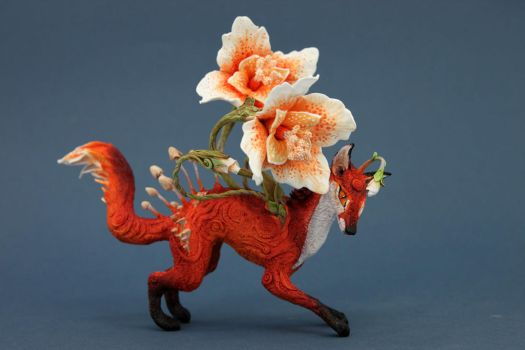 Flower fox by hontor