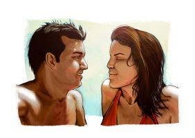 Couple by ChemaIllustration