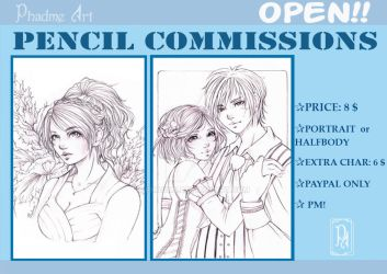 PENCIL COMMISSIONS by Phadme