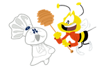 Doughboy and the Bee by EeyorbStudios