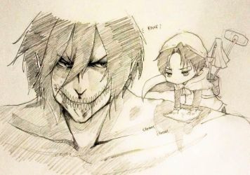 Levi Attack on titan! (cleaning) XD by minOrogo