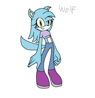 Sonic wolf girl adoption :Close: by BluethornWolf