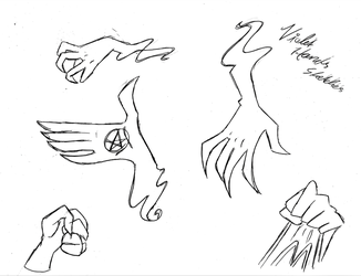 Violet Hands Sketches by ShirleyVaga